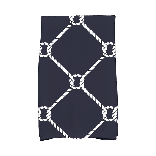 16 X 25-inch Ahoy! Geometric Print Hand Towel