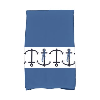 16 X 25-inch Anchor Stripe Stripe Print Hand Towel