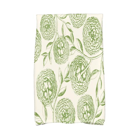 16 X 25-inch Antique Flowers Floral Print Hand Towel