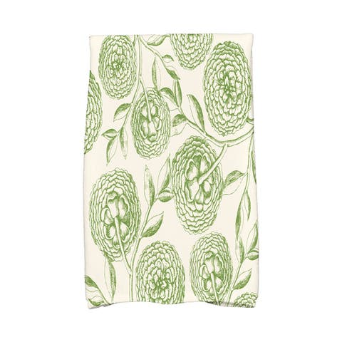 18 x 30-inch Antique Flowers Floral Print Hand Towel