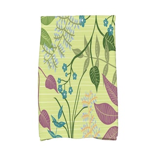 16 X 25-inch Botanical Floral Print Hand Towel