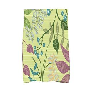 16 X 25-inch Botanical Floral Print Hand Towel