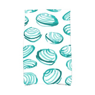 16 X 25-inch Clams Geometric Print Hand Towel