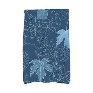16 X 25-inch Dotted Leaves Floral Print Hand Towel