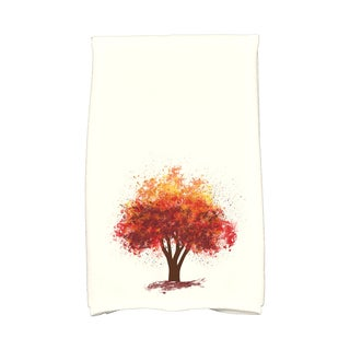 16 X 25-inch Fall Bounty Floral Print Hand Towel