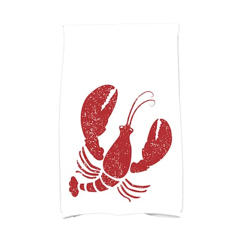 18 x 30-inch Lobster Animal Print Hand Towel