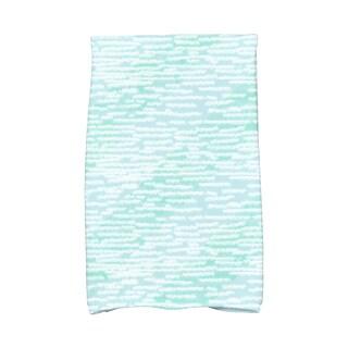 16 X 25-inch Marled Knit Stripe Geometric Print Hand Towel
