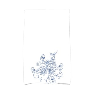 16 X 25-inch Five Little Birds Floral Print Hand Towel