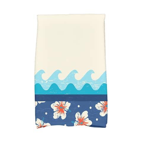 18 x 30-inch Hang Ten Floral Print Hand Towel