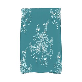 16 X 25-inch Morning Birds Floral Print Hand Towel
