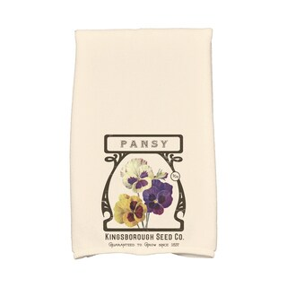 16 X 25-inch Pansy Floral Print Hand Towel