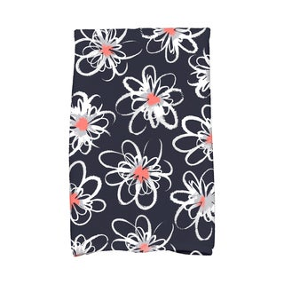 16 X 25-inch Penelope Floral Geometric Print Hand Towel