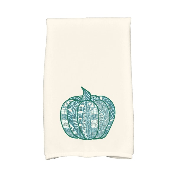 16 X 25-inch Pumpkin Patch Holiday Geometric Print Hand Towel