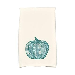 16 X 25-inch Pumpkin Patch Holiday Geometric Print Hand Towel