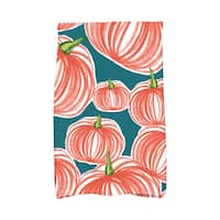 16 X 25-inch Pumpkins-A-Plenty Holiday Geometric Print Hand Towel