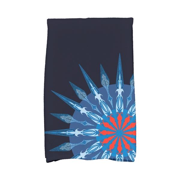 16 X 25-inch Sailor's Delight Geometric Print Hand Towel