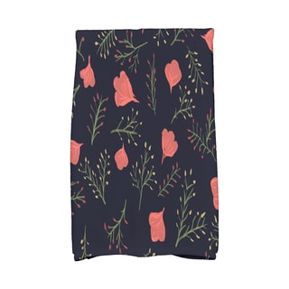 16 X 25-inch Spring Blooms Floral Print Hand Towel