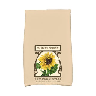 16 X 25-inch Sunflower Floral Print Hand Towel (Option: Almond)