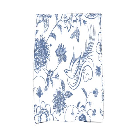 16 X 25-inch Traditional Bird Floral Floral Print Hand Towel