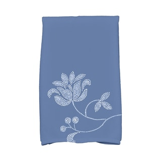 16 X 25-inch Traditional Flower-Single Bloom Floral Print Hand Towel
