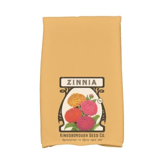 16 X 25-inch Zinnia Floral Print Hand Towel (3 options available)