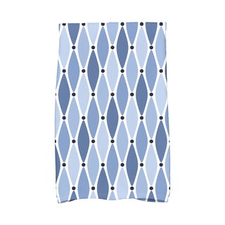 16 X 25-inch Wavy Geometric Print Hand Towel