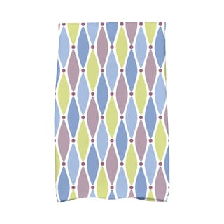 16 X 25-inch Wavy Splash Geometric Print Hand Towel