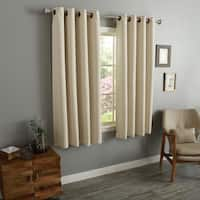 Aurora Home Solid-colored 54-inch Thermal-insulated Blackout Grommet-top Curtain Panel Pair