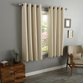 Aurora Home Thermal Insulated Blackout 54 Inch Grommet Top Curtain Panel  Pair