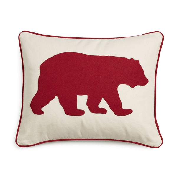 eddie bauer bear felt 3 colors decorative pillows free shipping on orders over 45