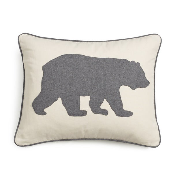 Shop Eddie Bauer Bear Felt 3 Colors Decorative Pillows