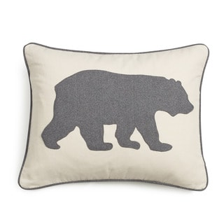 eddie bauer bear felt 3 colors decorative pillows - Toss Pillows