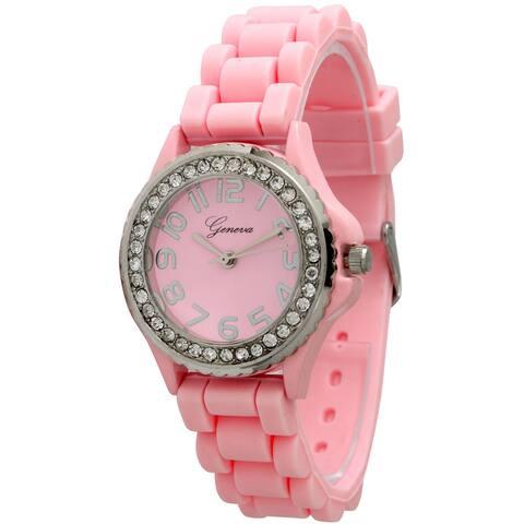 Simple Silicone & Rhinestone Watch
