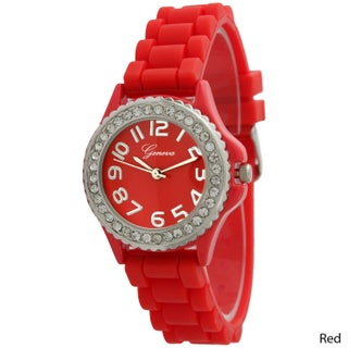 Simple Silicone & Rhinestone Watch