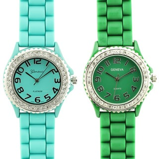 Geneva Platinum Summer Shine Ladies 2 Watch Bundle