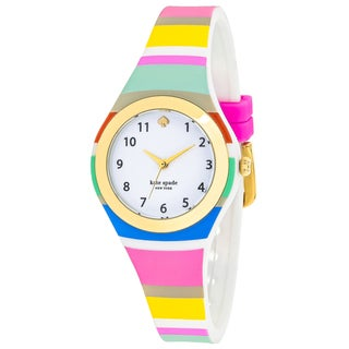 Kate Spade Women's KSW1076 Rumsey Round White dial Silicone strap Watch