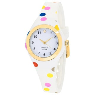 Kate Spade Women's KSW1077 Rumsey Round White dial Silicone strap Watch