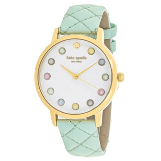 Kate Spade Women's KSW1096 Metro Round White dial Leather strap Watch