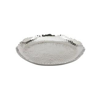 Impulse Bristol Silver Aluminum Small Round Tray