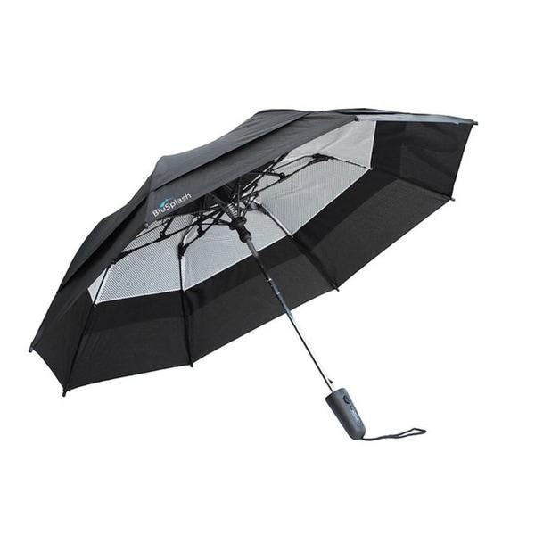 BluSplash Razor 44-inch Double Canopy Wind-resistant Automatic Umbrella - Medium. Opens flyout.
