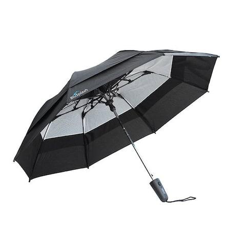 BluSplash Razor 44-inch Double Canopy Wind-resistant Automatic Umbrella - Medium