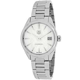 Tag Heuer Women's WAR1311.BA0778 Carrera Round White MOP dial Stainless steel bracelet Watch