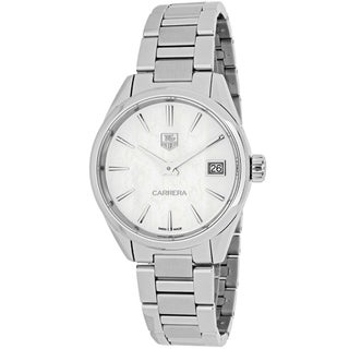 Tag Heuer Women's WAR1311.BA0778 Carrera Round White MOP dial Stainless steel bracelet Watch