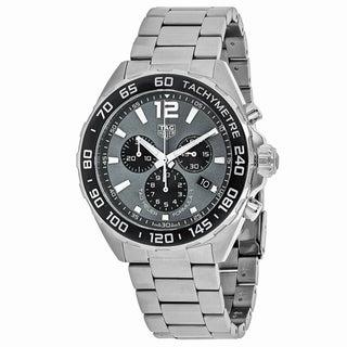 Tag Heuer Men's CAZ1011.BA0842 Formula 1 Round Grey dial Stainless steel bracelet Watch