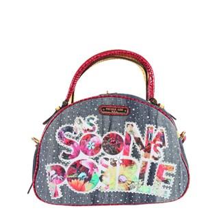 Nicole Lee As Soon As Possible Print Bowler Handbag