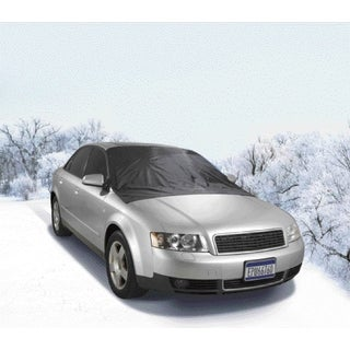 Black Polyester/Iron All-season Windshield Cover