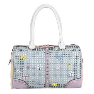 Nicole Lee Selina Mint Floral Pastel Boston Handbag
