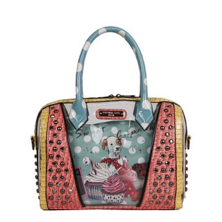 Nicole Lee 'Cupcake Dog' Print Clear Boston Handbag