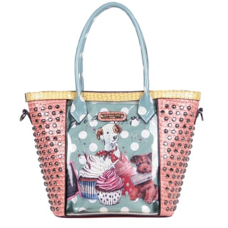 Nicole Lee Cupcake Dog Print Clear Tote Bag