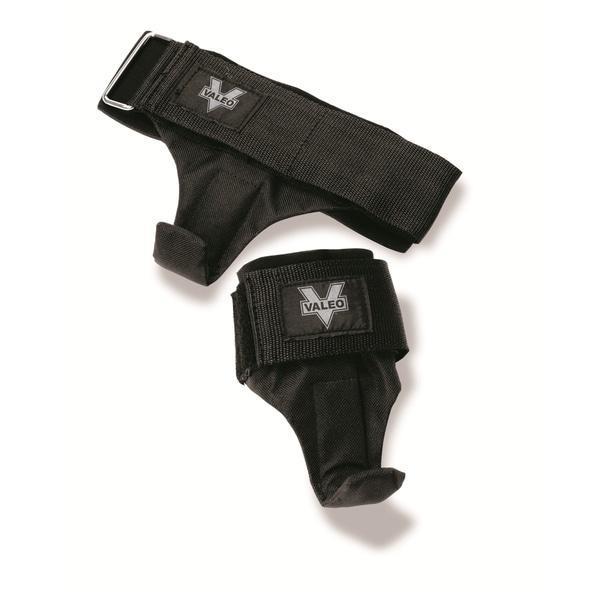 Black Padded Steel/Fabric Weightlifting Hooks